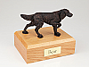 English Setter, Bronze Dog Figurine Cremation Urn