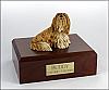 Lhasa Apso yellow/white Sitting Dog Figurine Cremation Urn