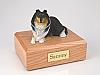 Collie, Tri-Color  Dog Figurine Cremation Urn