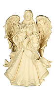Angel Holding Flowers Cremation Urn