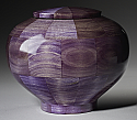 Peony Purple Wood Cremation Urn