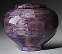 Peony Purple Wood Cremation Urn