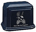 Eagle and Flags Cultured Granite Urn
