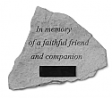 Personalized Pet Memorial Stone - In Memory