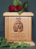 Pet Portrait with Poem Cremation Urn