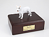 Bull Terrier White Standing Dog Figurine Urn