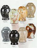 Medium Modern Style Marble Cremation Urns
