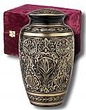 Gee Motif Brass Adult Cremation Urn