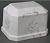 Navarro White/Gray Cultured Marble Cremation Urn