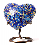 Etienne Butterfly Heart Keepsake Cloisonne Cremation Urn