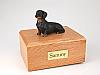 Dachshund, Black  Dog Figurine Cremation Urn
