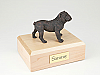 Bulldog  Bronze Standing Dog Figurine Cremation Urn