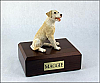Labrador, Yellow Sitting Dog Figurine Cremation Urn