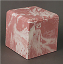Regal Pink Cultured Marble Adult Cremation Urn