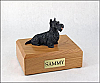 Scottish Terrier Black Laying Dog Figurine Cremation Urn