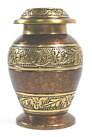 Milano Brass Cremation Urn Keepsake
