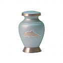 Aria Dolphin Brass Keepsake Cremation Urn