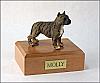 Pit Bull Terrier, Brindle Dog Figurine Cremation Urn