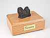 Lhasa Apso, Black Dog Figurine Cremation Urn