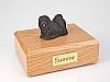 Lhasa Apso, Black Dog Figurine Cremation Urn