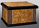 Lacquered Wood Inlay Chest Urn