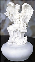 Angel with Flowers on Bench Keepsake Urn