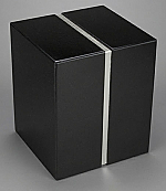 Beautiful Black Granite Double Cremation Urn with Trim