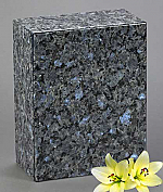 Blue Pearl Granite Cremation Urn