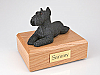 Schnauzer, Black Sleeping Dog Figurine Cremation Urn