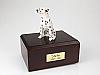 Dalmatian, White Sitting Dog Figurine Cremation Urn