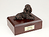 Poodle, Bronze Laying Dog Figurine Cremation Urn