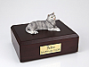 Tabby, Gray Cat Figurine Cremation Urn