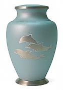 Aria Dolphin Brass Cremation Urn
