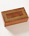 Hardwood Cremation Urn with Silver Inlay Frame