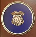 Police Medallion Enamel on Pewter