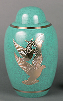 Three Doves Brass Cremation Urn