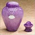 Moonlit Violet Glass Urn