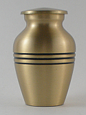 Classic Brushed Brass Keepsake Urn
