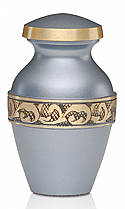 Silver Blue Brass Keepsake Urn