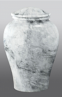 Arno White Marble Adult Cremation Urn