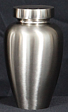Spartan Brushed Nickel Urn