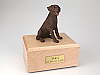 Labrador, Chocolate Sitting Dog Figurine Cremation Urn