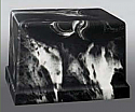 Greco Black Marble Single Adult Cremation Urn