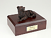 Border Collie Bronze Laying Dog Figurine Cremation Urn