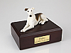 Greyhound, White/Brindle Dog Figurine Cremation Urn