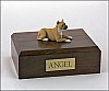 Pit Bull, Tan Dog Figurine Cremation Urn