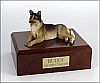 German Shepherd Laying Dog Figurine Cremation Urn
