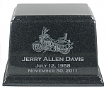 Cultured Granite Motorcycle Cremation Urn