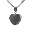 Heart stainless steel pendant urn
