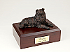 Collie, Bronze Laying Dog Figurine Urn
